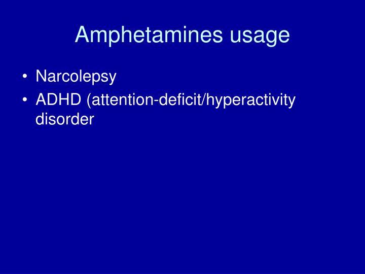 Amphetamines usage