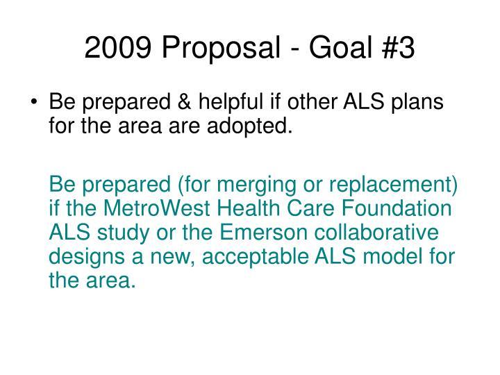 2009 Proposal - Goal #3
