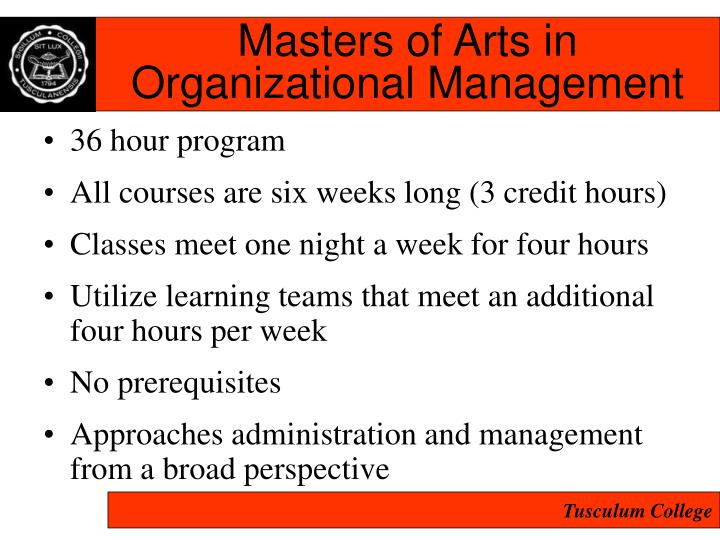 Masters of Arts in
