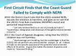 first circuit finds that the coast guard failed to comply with nepa