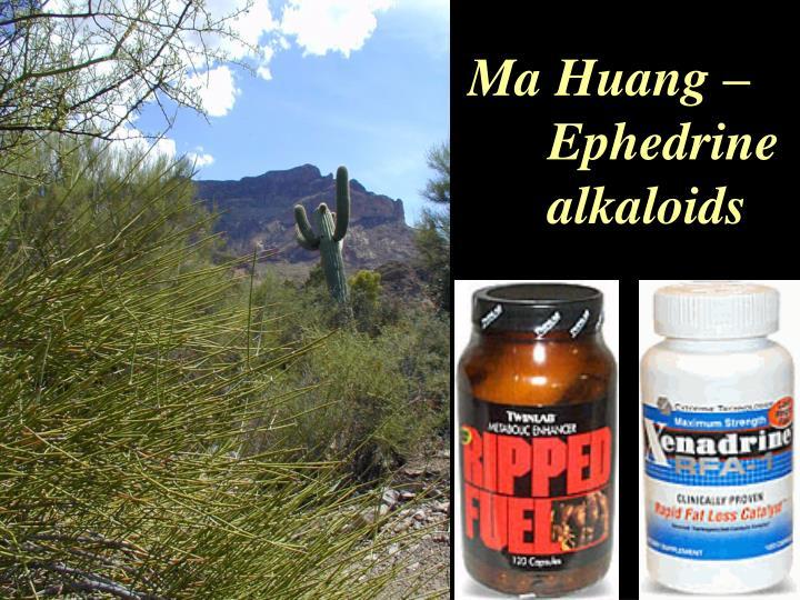 Ma Huang –   Ephedrine alkaloids