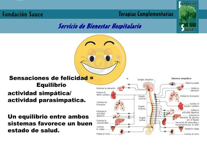 Sensaciones de felicidad = Equilibrio