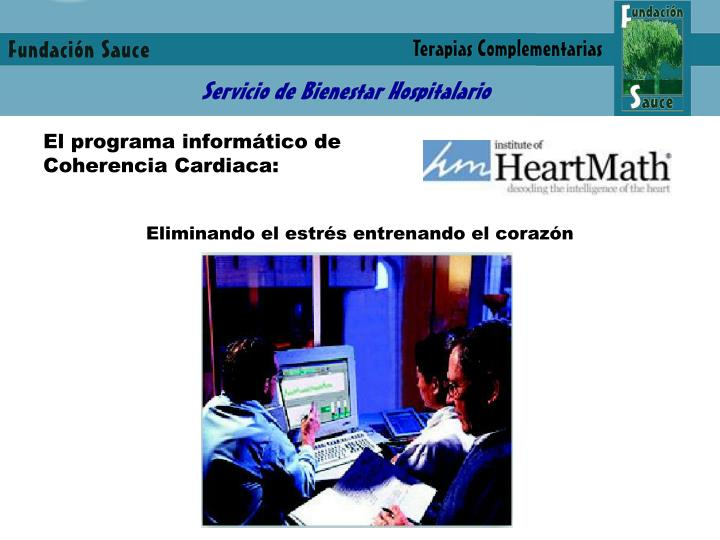 El programa informático de Coherencia Cardiaca: