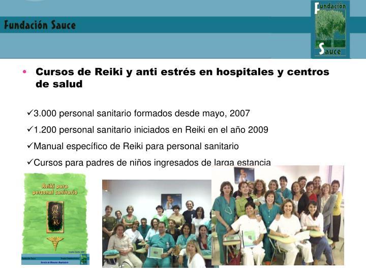 Cursos de Reiki y anti estrés en hospitales y centros de salud