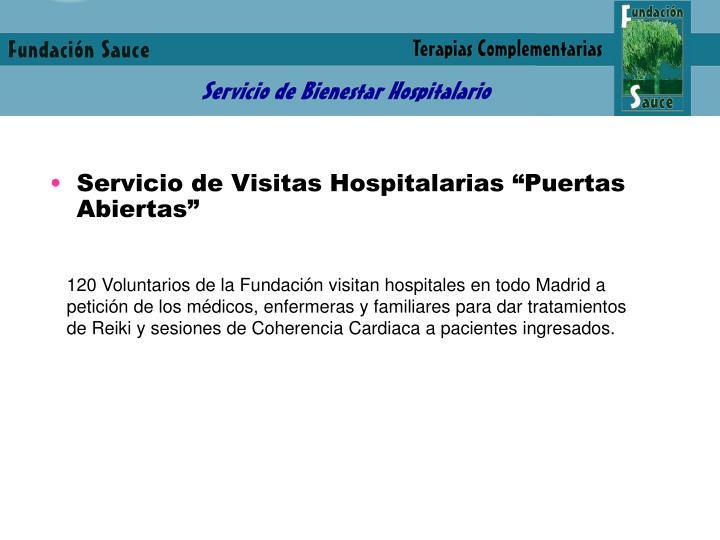 """Servicio de Visitas Hospitalarias """"Puertas Abiertas"""""""