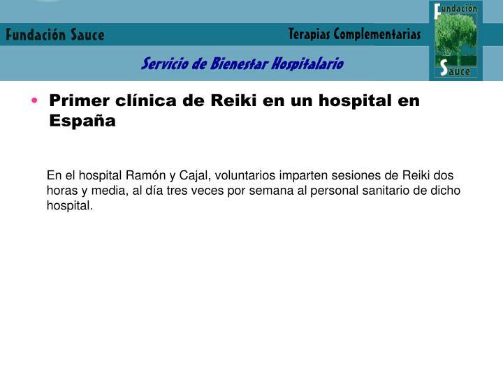 Primer clínica de Reiki en un hospital en España