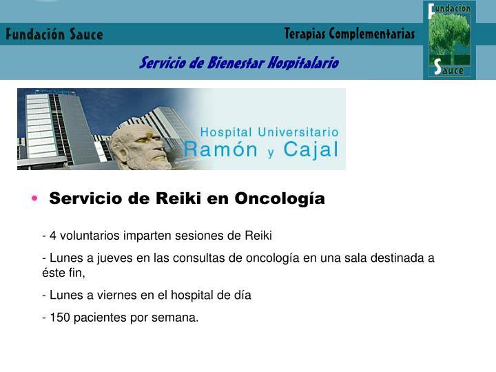 Servicio de Reiki en Oncología