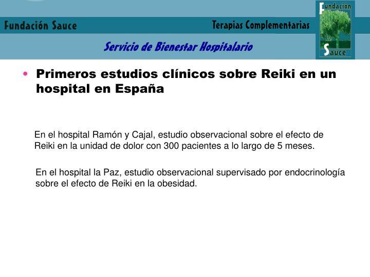 Primeros estudios clínicos sobre Reiki en un hospital en España