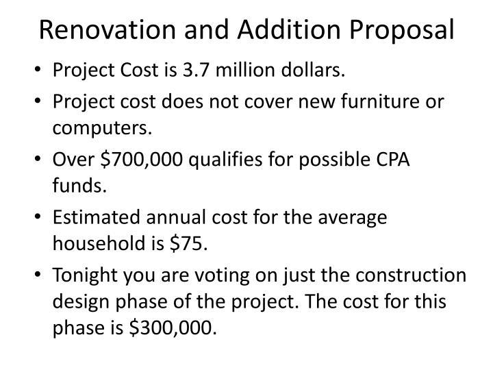 Renovation and Addition Proposal