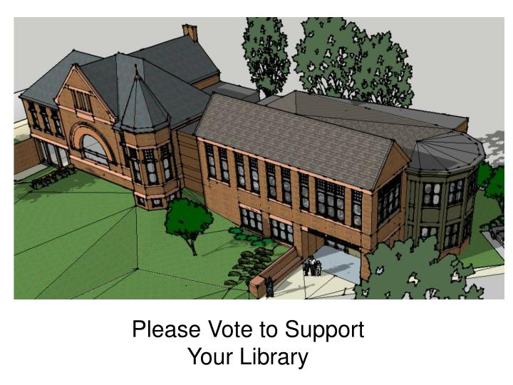 Please Vote to Support Your Library