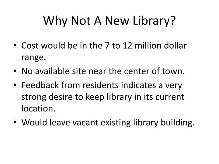 Why Not A New Library?
