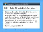 boi baltic olympiad in informatics