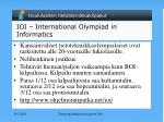 ioi international olympiad in informatics