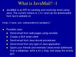 what is javamail 1