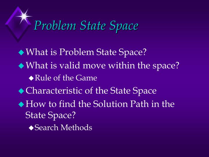 Problem state space