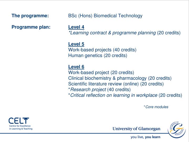 The programme: