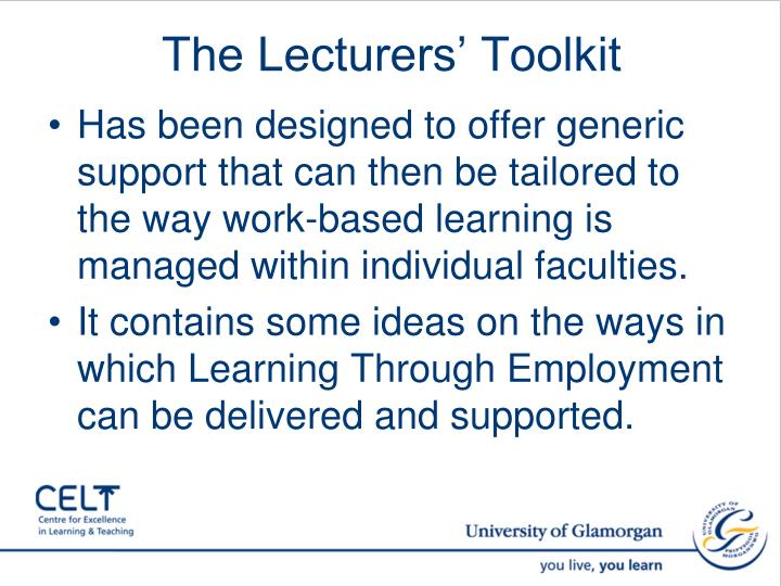 The Lecturers' Toolkit