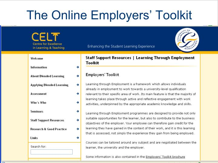 The Online Employers' Toolkit