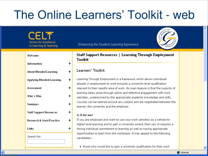 The Online Learners' Toolkit - web