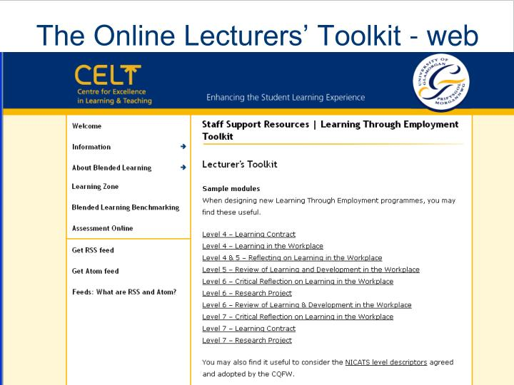 The Online Lecturers' Toolkit - web