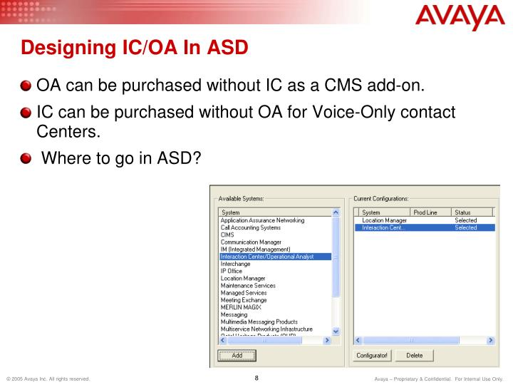 Designing IC/OA In ASD