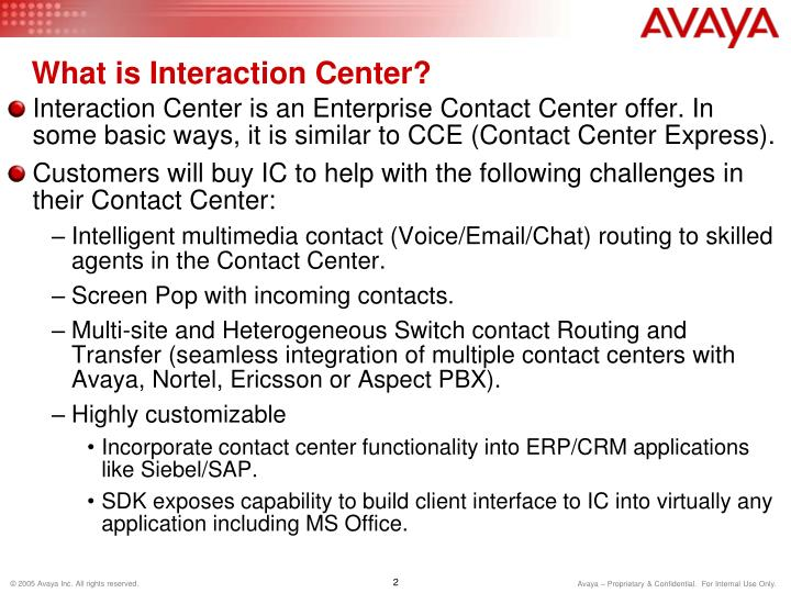 What is interaction center