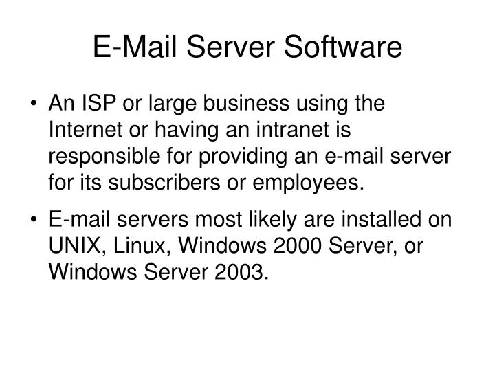 E-Mail Server Software