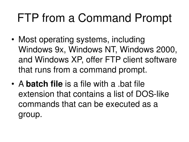FTP from a Command Prompt