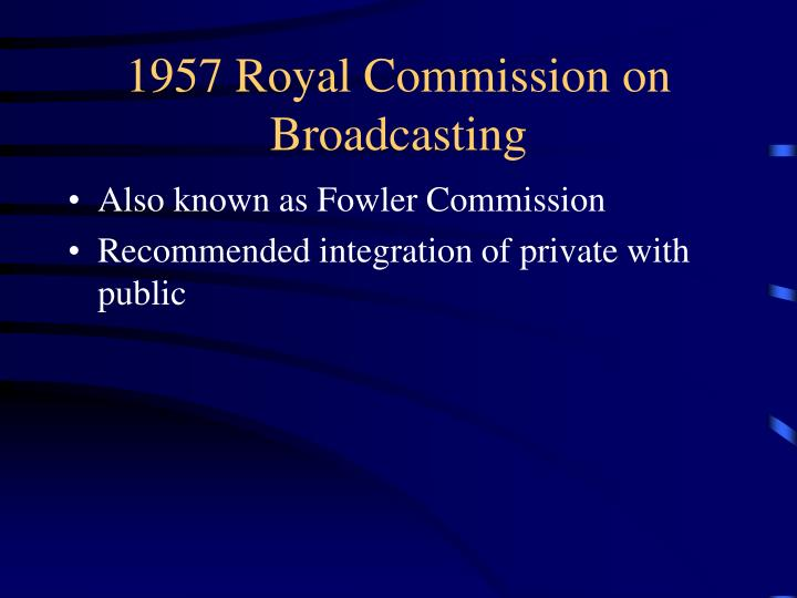 1957 Royal Commission on Broadcasting