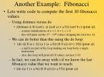 another example fibonacci