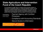 state agriculture and intervention fund of the czech republic
