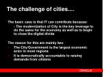 the challenge of cities