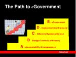 the path to e government