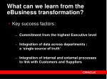 what can we learn from the ebusiness transformation