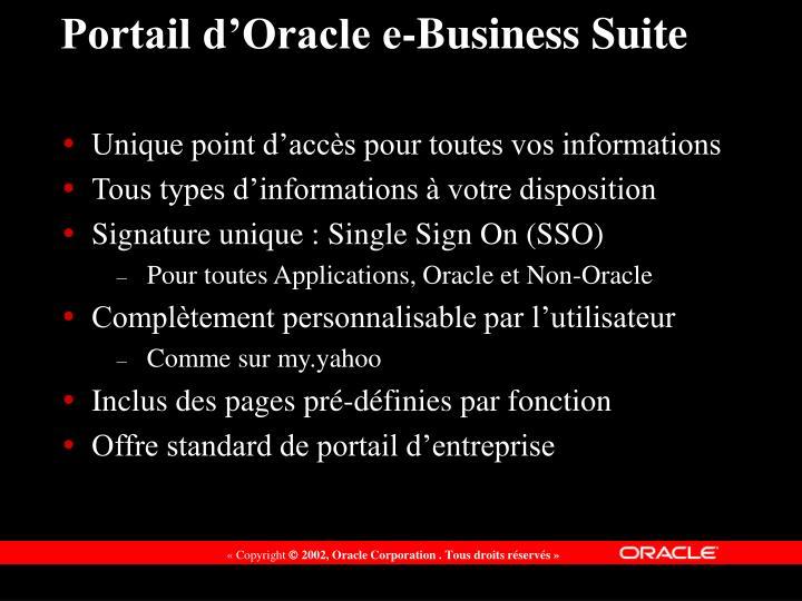 Portail d'Oracle e-Business Suite