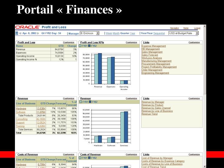 Portail «Finances»