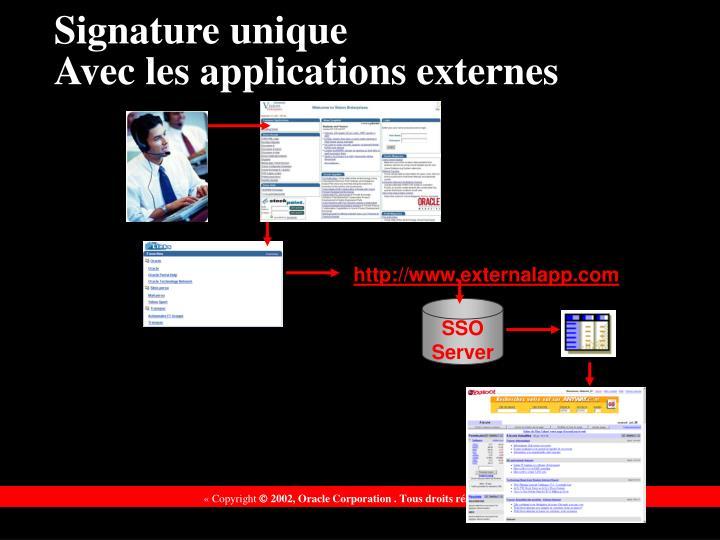 Signature unique