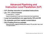 advanced pipelining and instruction level parallelism ilp