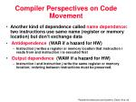 compiler perspectives on code movement1