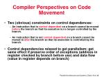 compiler perspectives on code movement4
