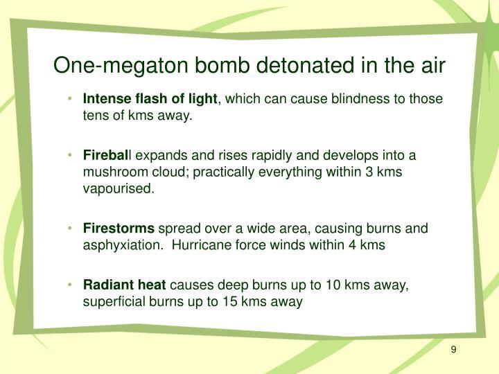 One-megaton bomb detonated in the air