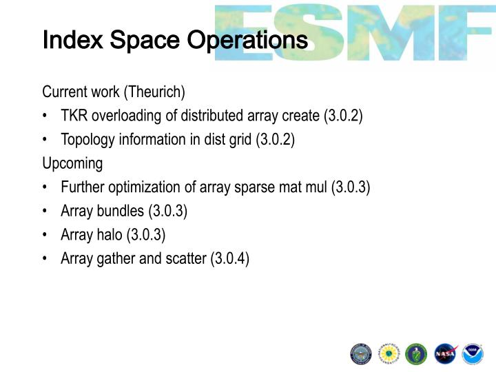 Index Space Operations