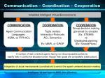 communication coordination cooperation