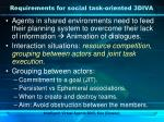requirements for social task oriented 3diva