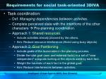 requirements for social task oriented 3diva1