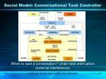 social model conversational task controller