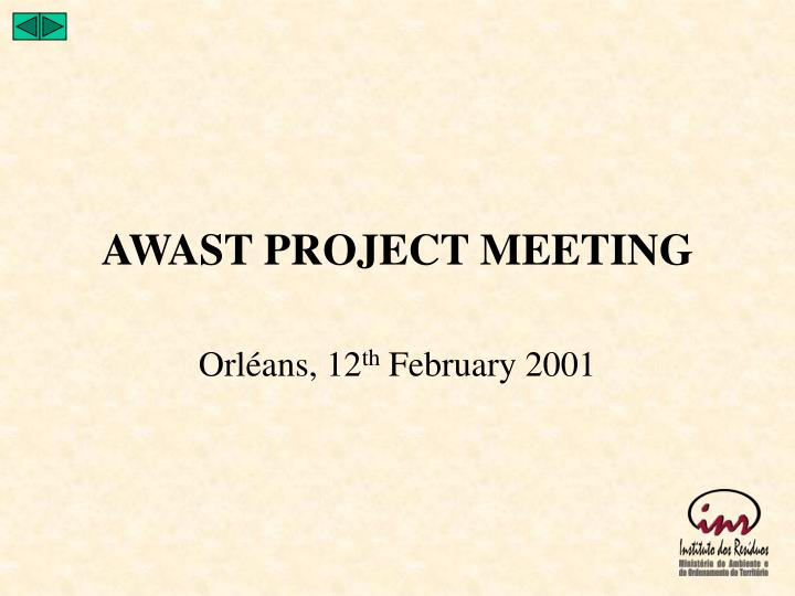 awast project meeting n.