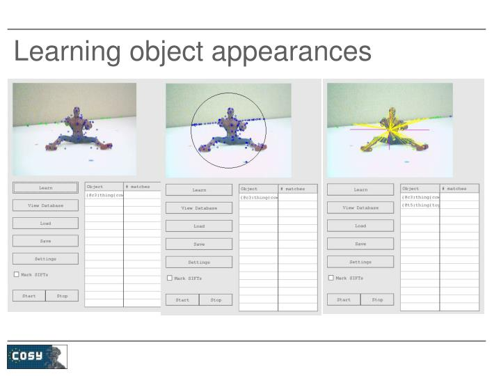 Learning object appearances