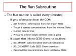 the run subroutine