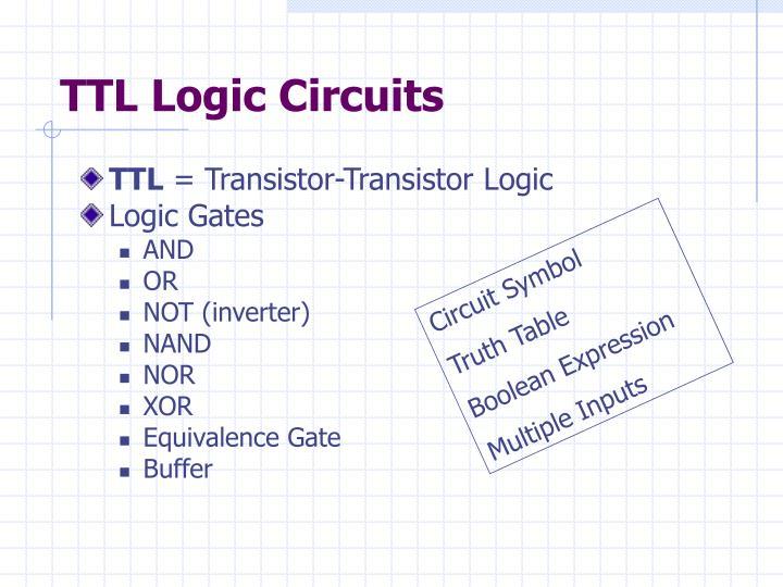 TTL Logic Circuits